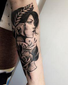 Tatuagem criada por Rodrigo Muinhos de Fortaleza.  Valkiria.