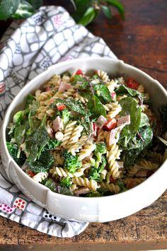Ham and Broccoli Pasta Salad with Creamy Yogurt Dressing Recipe