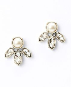 Pearlized Marquise Crystal Stud Earrings on sale for $20