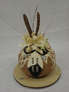 African Wedding cake -… You are in the right place about traditional wedding cakes simple … Zulu Traditional Wedding, Traditional Cakes, African Wedding Cakes, African Weddings, Africa Cake, African Theme, Novelty Cakes, Celebration Cakes, Themed Cakes