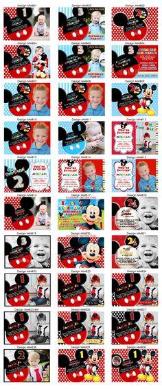 HUGE SELECTION Mickey Mouse Invitation  Red by MyCelebrationShoppe, $10.00