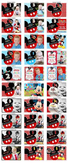 HUGE SELECTION Mickey Mouse Birthday by MyCelebrationShoppe, $10.00
