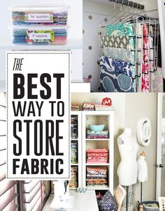 Great tips for storing your #fabric #stash! #Sewing #Room #Organization