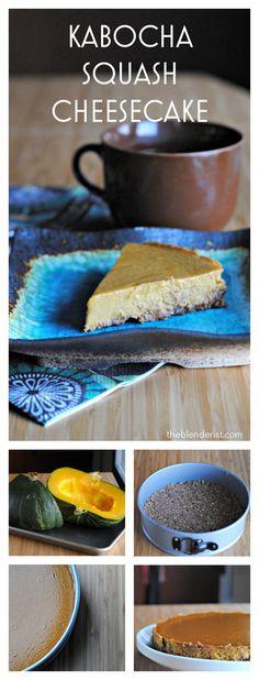 The Blenderist | Kabocha Squash Cheesecake Pie – Gluten-Free | http://theblenderist.com