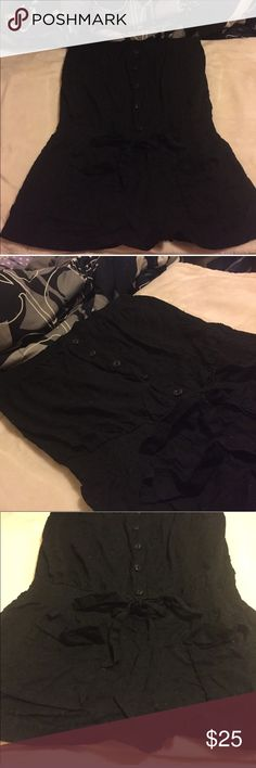 black romper Brand new never worn! Fits small-medium best! bought from forever 21, you cannot buy anymore! original price was $34. It has two small pockets in the front. It is strapless! Feel free to ask any questions Forever 21 Dresses Strapless