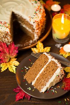 Autumn Spice Cake with Cream Cheese Frosting - WomansDay.com