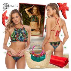 """Salty Mermaid"" by gaby-mil ❤ liked on Polyvore featuring Fendi, Summer, beach, bikini and saltymermaid"