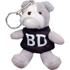 Bulldog Mascot Keytag   via www.schoolspiritstore.com