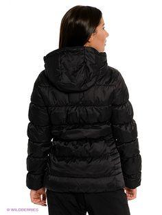 Пуховик AC Down Hooded Jacket PUMA. Цвет черный, фиолетовый. Вид 2.