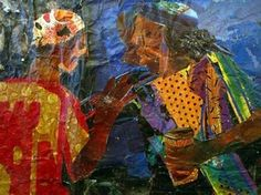Kay_hassan_gossiping Contemporary Artists, Collage, Artwork, Painting, Ideas, Dibujo, African, Artists, Art