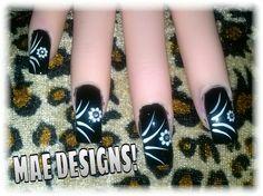 Abstract & Flower Decals nail design tutorial up on youtube.com/MAENAILDESIGNS