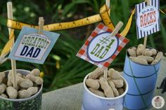 Simple, quick & fun Father's Day Centerpiece from #Walmart mom Liz.