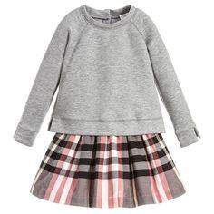Burberry Grey & Pink 'Francine' Dress at Childrensalon.com