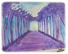 forêt - aquarelle et acrylique - challenge art journal