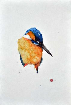 Kingfisher painting by Karl Mårtens - www.karlmartens.se