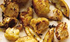 Roasted cauliflower (above) makes a great nibble to go with drinks ? its smoky, caramelised flavour has been known to win over even the mos...