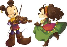 Gypsies Tramps and Thieves | by cici-chi @ DeviantART.com // #disney; mickey and minnie mouse