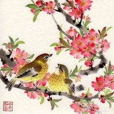 """Garden Friends"" - Original Fine Art for Sale - © Jinghua Gao Dalia"