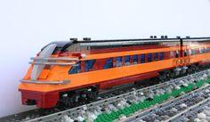 Art deco train #lego Lego  A LEGO A Day