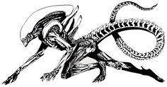 xenomorph drawing alien simple roblox