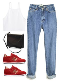 """Untitled #4253"" by magsmccray on Polyvore featuring New Balance, H&M and CÉLINE"