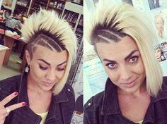 funky asymmetrical haircut for women