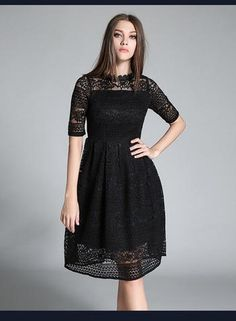 New Europe 2017 Summer Women's Temperament Lace Hollow Out Long Dresses Femme Casual Slim Clothing Women Sexy Party Dresses