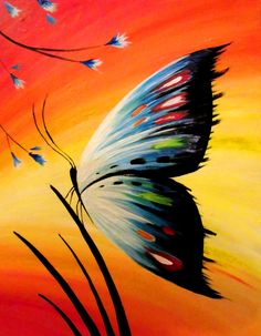 Paint Nite - Butterfly Blue