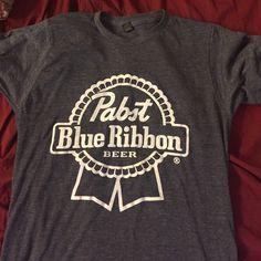 Pabst blue ribbon beer shirt size small Pabst blue ribbon beer shirt size small. Never worn! Tops Tees - Short Sleeve