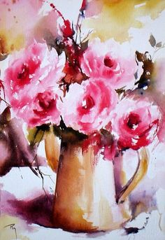 Au jardin… Des roses…. - Catherine Rey