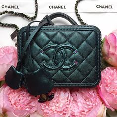 """99f7bfb1c70c Opulent Habits on Instagram: """"Loving this mermaid beauty! DETAILS ON OUR  WEBSITE! 🧜🏼 ♀ 🌈 LAST ONE WE HAVE LEFT! Authentic Chanel Dark Turquoise  Mini ..."""