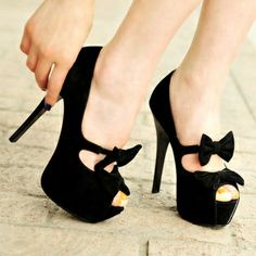 Bowtie Open Toes Pure Color Thin Heels Platform Women Summer Shoes on buytrends.com