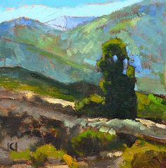 """Daily Paintworks - """"Temecula Landscape Painting"""" - Original Fine Art for Sale - © Kevin Inman"""
