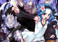 Levy, Gajeel, panterlily and Metalicana
