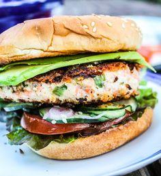 Asian Salmon Burgers with Wasabi Mayonnaise   TheFoodCharlatan.com