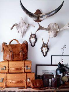 Texture: bones, antlers, aged leather // repinned by jillscheintal.com/ MRealty, Portland Oregon