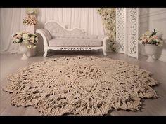 Ideas Crochet Rug Kids Living Rooms For 2019 Teal Carpet, Diy Carpet, Carpet Colors, Rugs On Carpet, Crochet Doily Rug, Crochet Carpet, Crochet Home, Irish Crochet, Bedroom Carpet