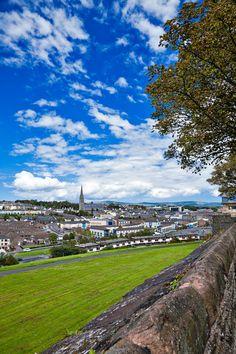 Derry, Ireland cityscape