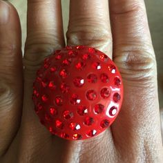 Fashion red ring 5 inch size ring None Jewelry Rings