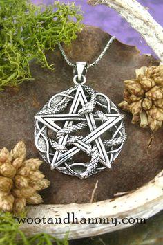 Hidden Heart Pentacle Charm Celtic Knot Woven Pentagram Charm Wiccan Pendant