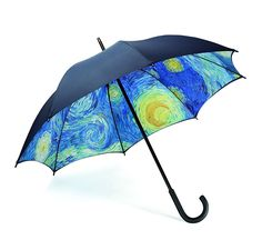 Starry Night Umbrella Full-Size from MoMA Design Store. Shop more products from MoMA Design Store on Wanelo. Cute Umbrellas, Umbrellas Parasols, Moma Store, Moma Collection, Arte Van Gogh, Cherbourg, Under My Umbrella, Fancy Umbrella, Blue Umbrella