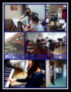 """Collage con las imágenes del centro educativo """"Conservatorio Profesional de Música Oreste Camarca de Soria"""" tomadas y retocadas con la app """"PicsArt"""""""
