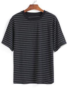Striped Loose Black T-shirt 8.99