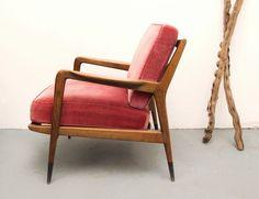 50er Sessel Armchair Nußbaum, Kirschrot von silent-cube auf DaWanda.com