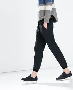 PINSTRIPE TROUSERS - Trousers - WOMAN | ZARA Turkey