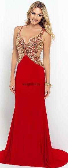 red sexy prom dress