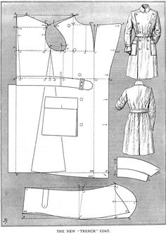 The new military trench coat - This comes from J.P. Thornton, from 1915