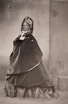 "beauties all know one another... "" Virginia Oldoni, Contessa di Castiglione. 1860s. """