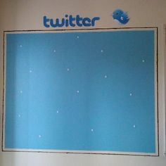 "Made this ""Twitter Wall"" for my classroom. Kids velcro their ""tweets"" (exit cards) on the board on their way out the door. I'm going to let them create their own Twitter names and laminate their half sheets of cardstock (hot dog style) for their tweets. I'm also thinking of having them use hashtags to indicate their understanding (#igotthis, #thinkso, #huh). Classroom Setting, Classroom Displays, Classroom Organization, Classroom Decor, Classroom Management, 5th Grade Classroom, Classroom Posters, School Classroom, Teaching Activities"