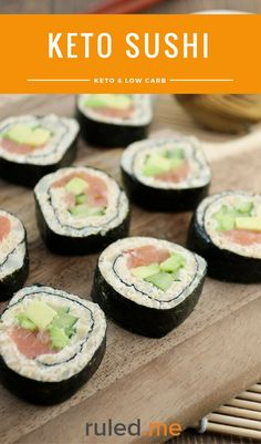 A keto sushi recipes for those that are craving some sushi, but without the rice. #ketodiet #ketorecipes #ketogenicdiet